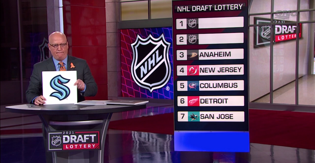 Seattle Kraken get lucky at their first-ever NHL draft lottery