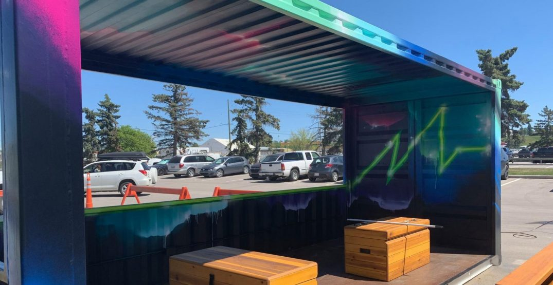 Calgary is getting colourful new public spaces made out of shipping containers