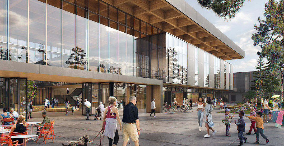 Detailed renderings of new design for North Vancouver recreation centre