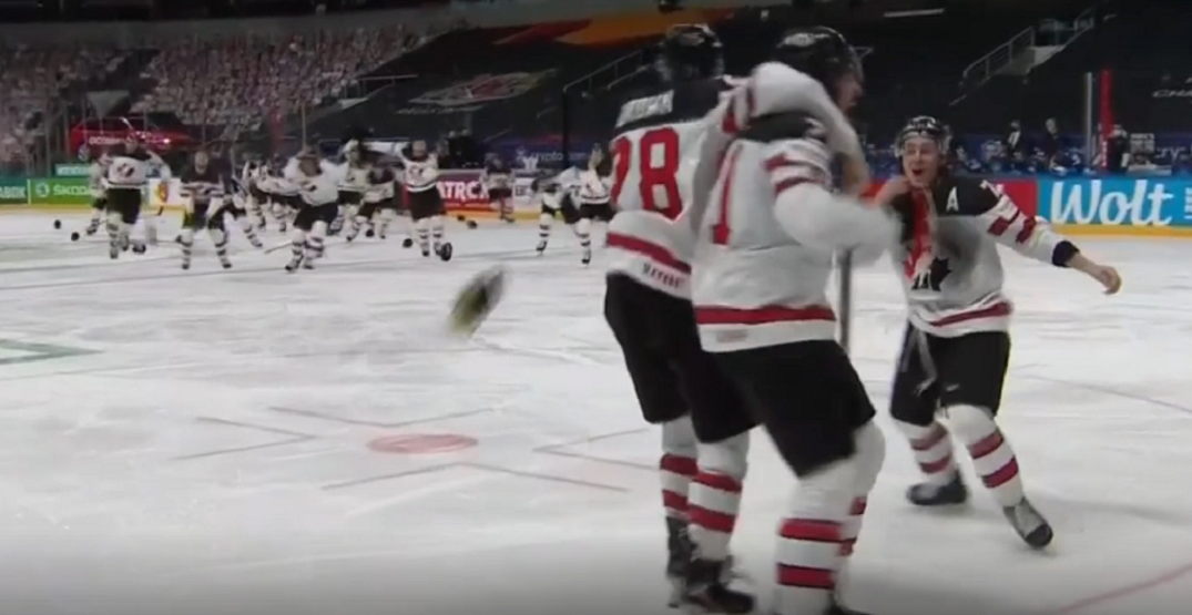 Canada wins men's hockey championship gold medal game in overtime