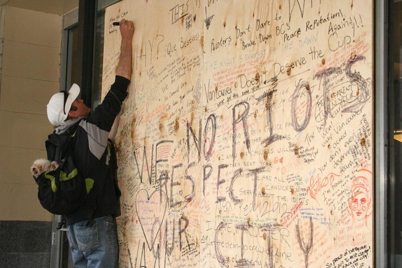 vancouver canucks riot board 2011