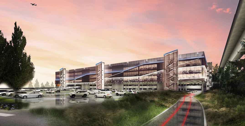 yvr vancouver international airport new parkade rendering