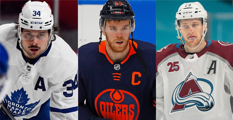 NHL names McDavid, Matthews, MacKinnon Hart Trophy finalists