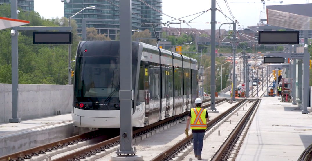 See the new Eglinton Crosstown LRT trains in action (VIDEO)