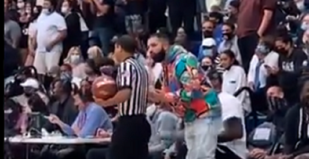 Drake argues with ref at LeBron James Jr.'s high school game (VIDEO)