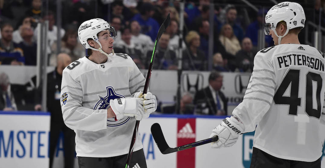 Canucks cap could block long term deals for Pettersson and Hughes: agent