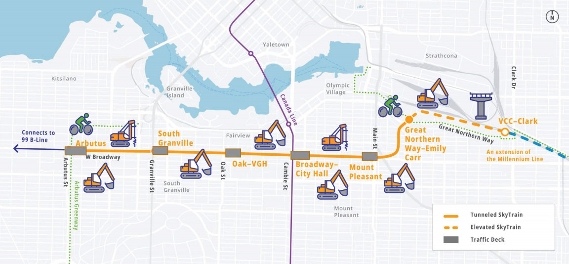 broadway subway construction 2021