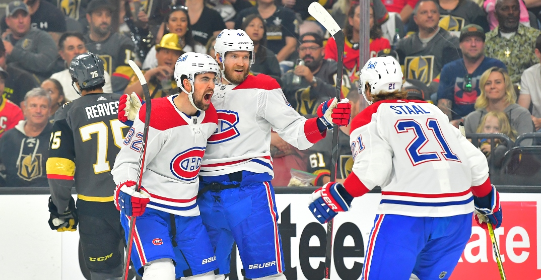 Canadiens bounce back with big win in Vegas to even series