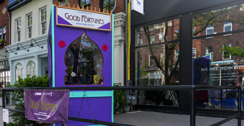 Gaze into the future at Toronto's new interactive fortune-telling installation