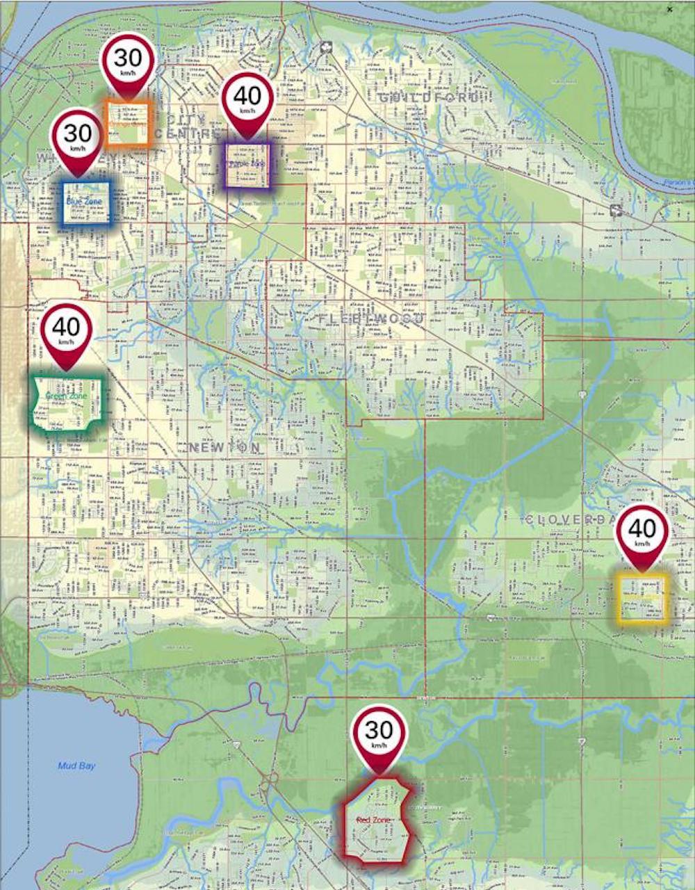 surrey slow streets neighbourhoods 2021 map