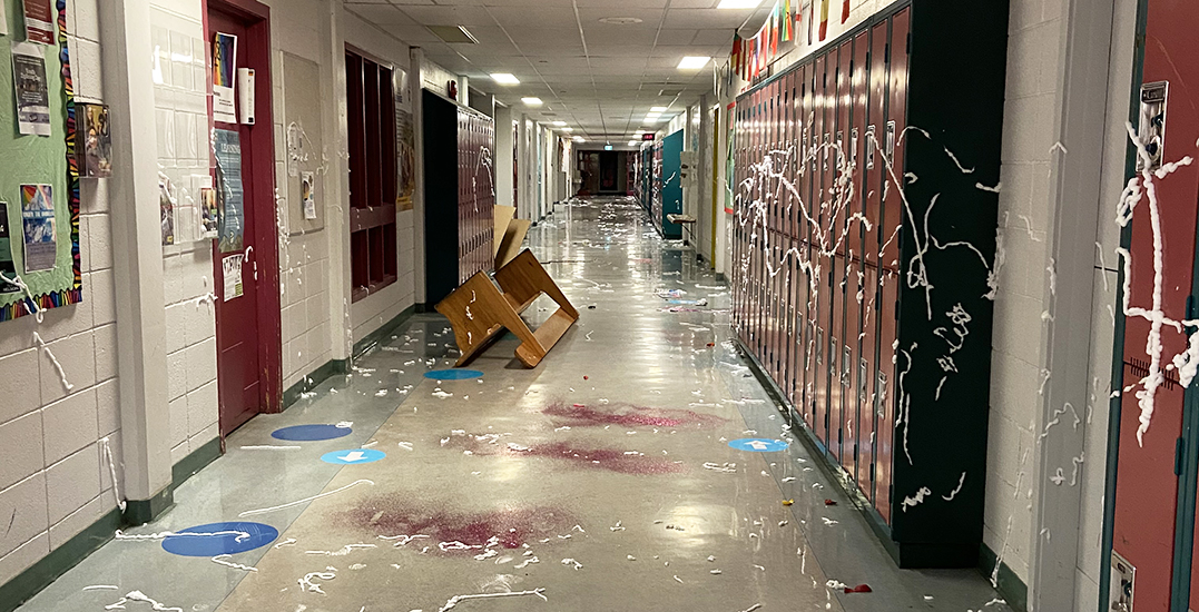 """""""Out of hand"""": Four students arrested after grad prank closes down BC school"""
