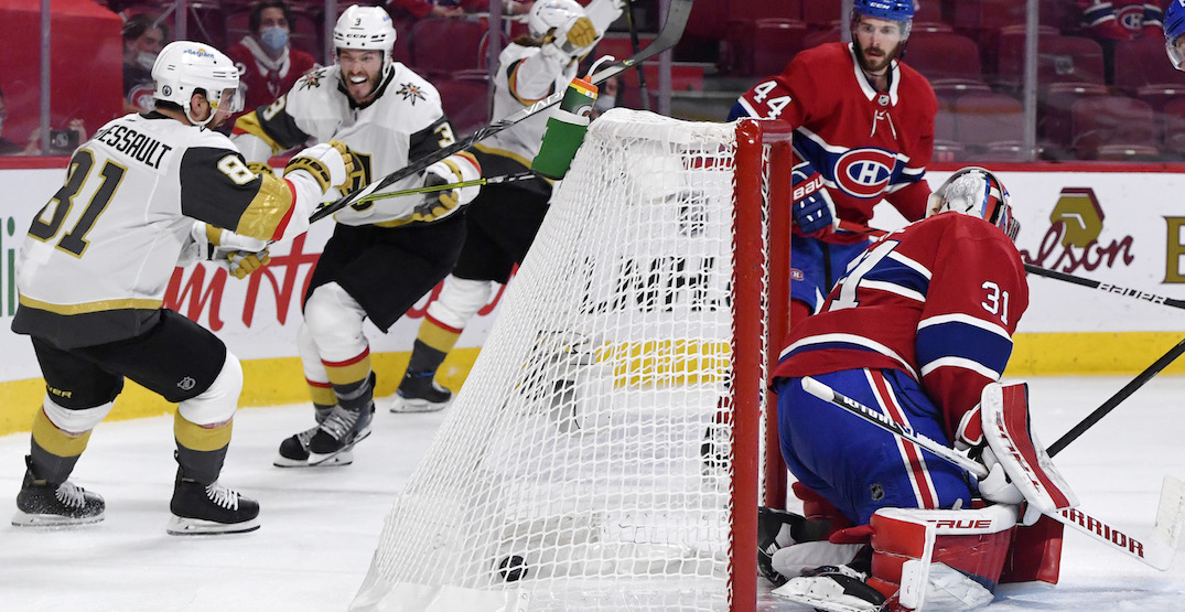 Golden Knights get OT winner to even series with Canadiens