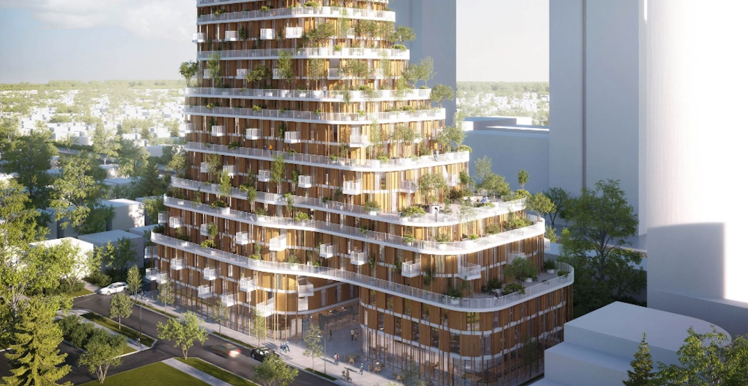 19-storey Passive House residential tower envisioned near Marine Drive Station