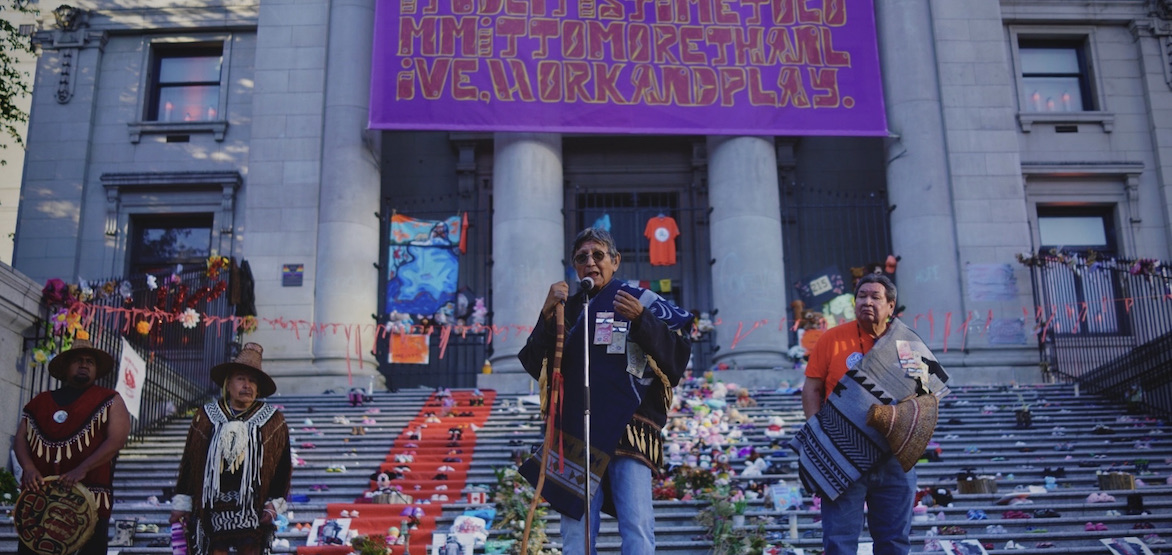 Vigil held in Vancouver for Indigenous children on Indigenous Peoples Day (PHOTOS)