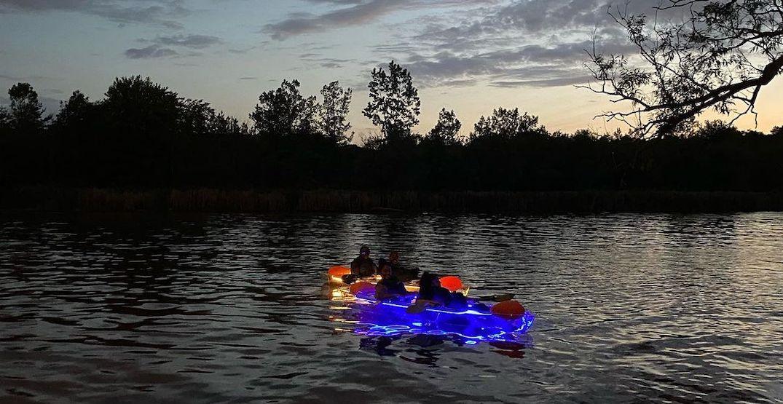 Paddle through Lake Ontario in a glowing LED kayak this summer