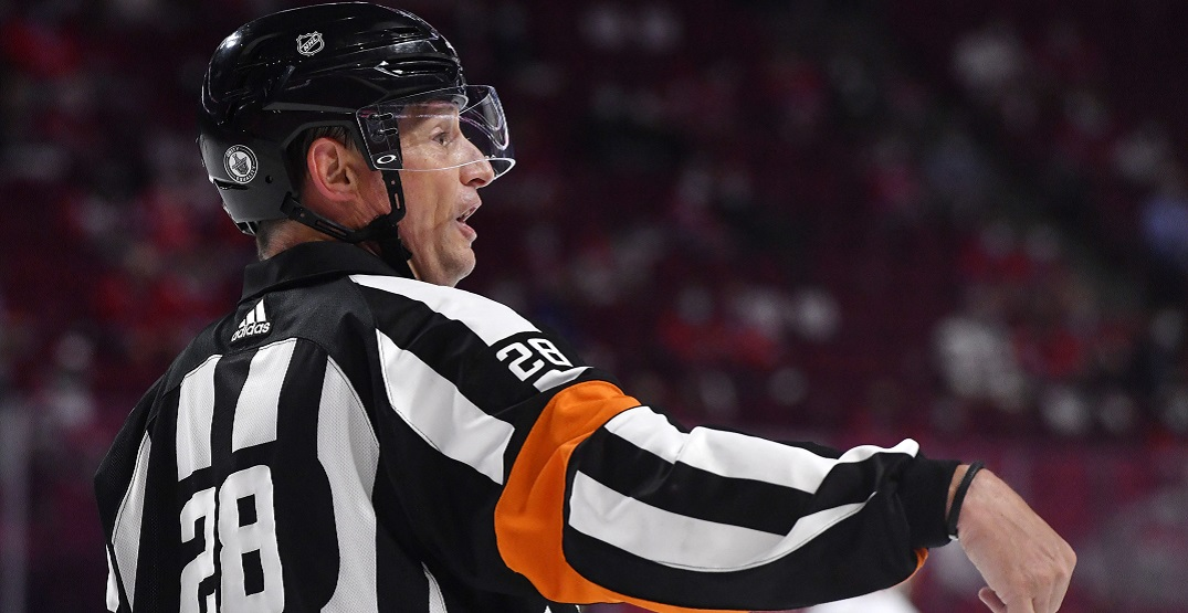 Referee disliked by Montreal fans not officiating Canadiens game tonight