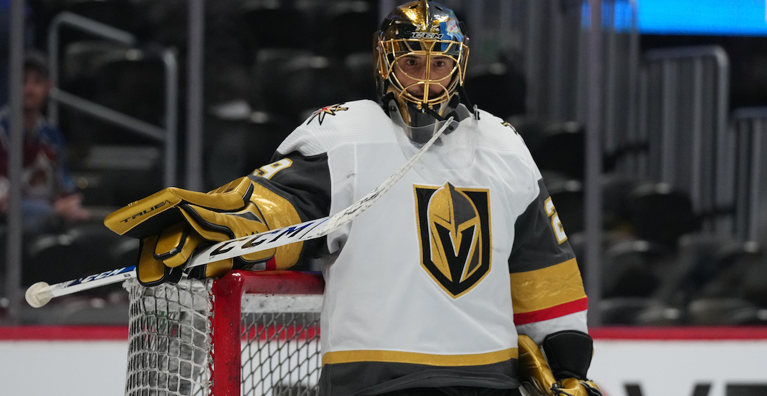 It appears Vegas is benching Fleury for do-or-die game against Canadiens tonight