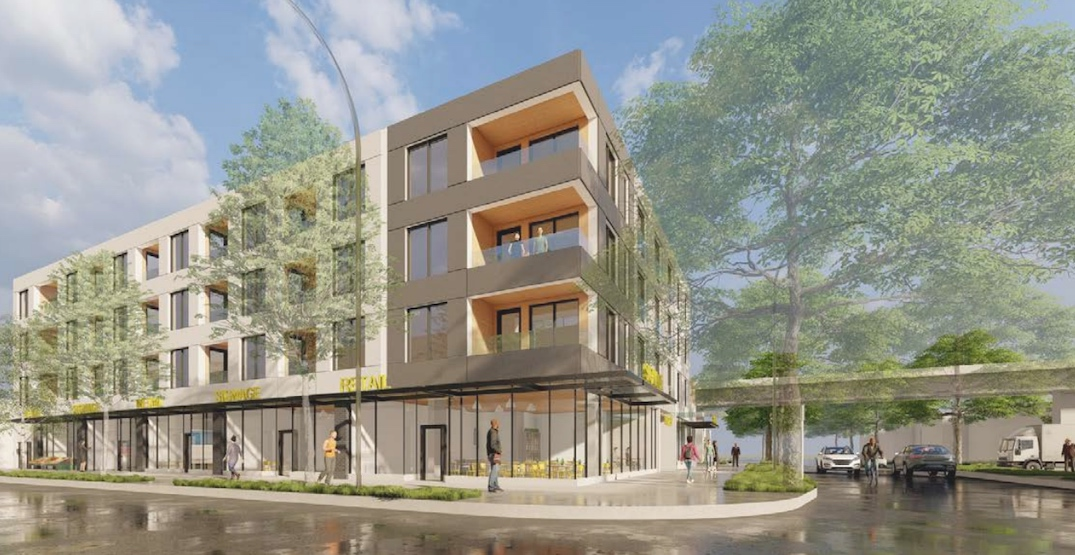 Four-storey retail and rental building proposed near Commercial-Broadway Station