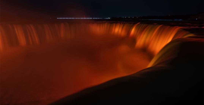 Niagara falls orange