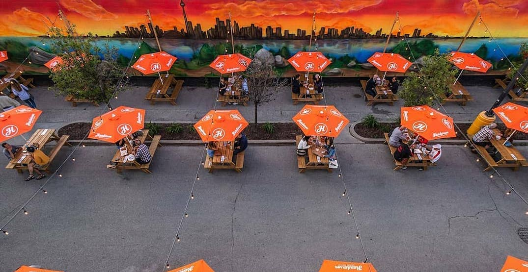 You can order from 11 different restaurants at this huge Toronto patio