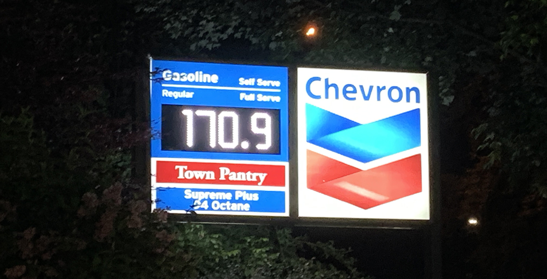 Gas prices in Vancouver spike to 170.9 c/litre, approaching record highs