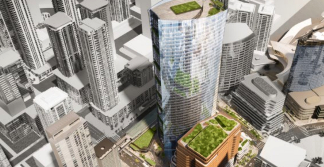 Massive 738-ft-tall office tower proposed for Surrey City Centre