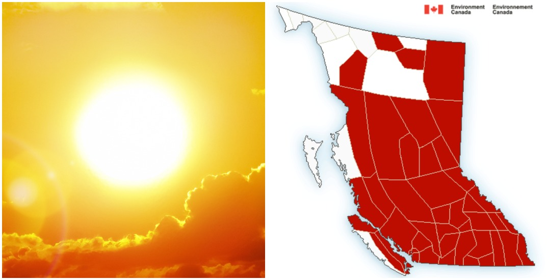 Almost all of BC under weather warnings as dangerous heat wave surges