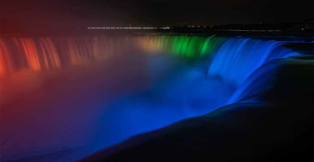 Niagara Falls lights up in rainbow colours for Pride Month