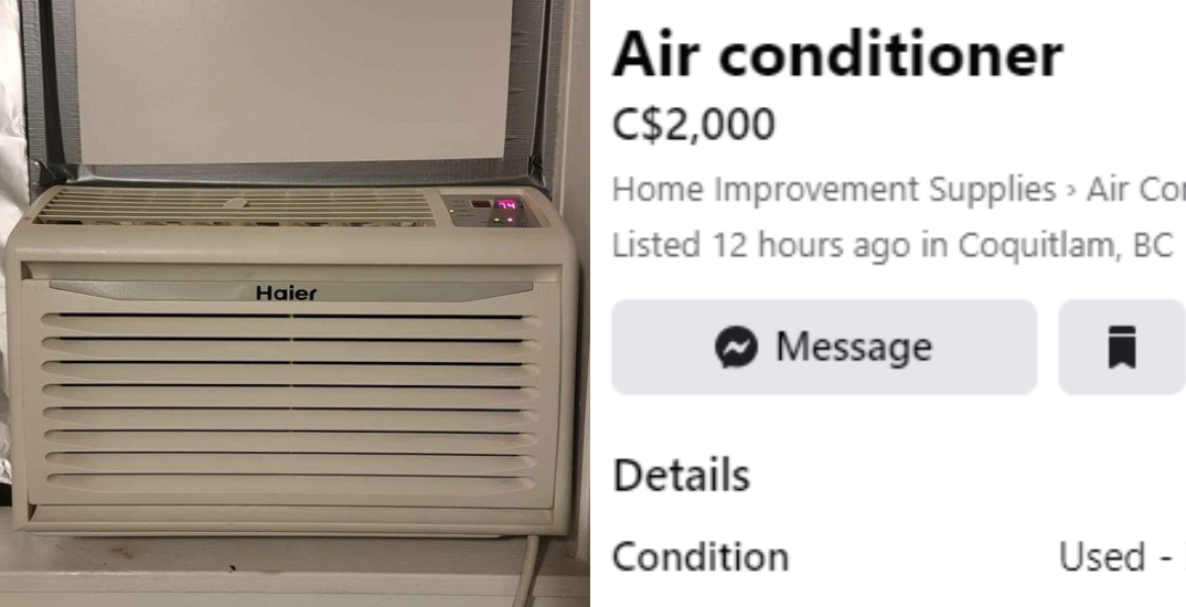 People are reselling air conditioners for $2,000 amid BC's heat wave