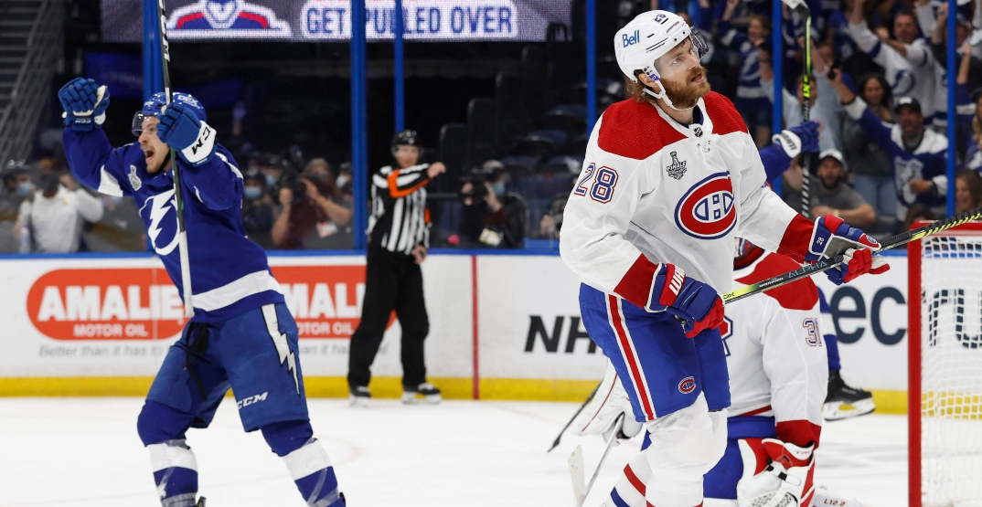 Lightning give Canadiens rough welcome to Stanley Cup Final