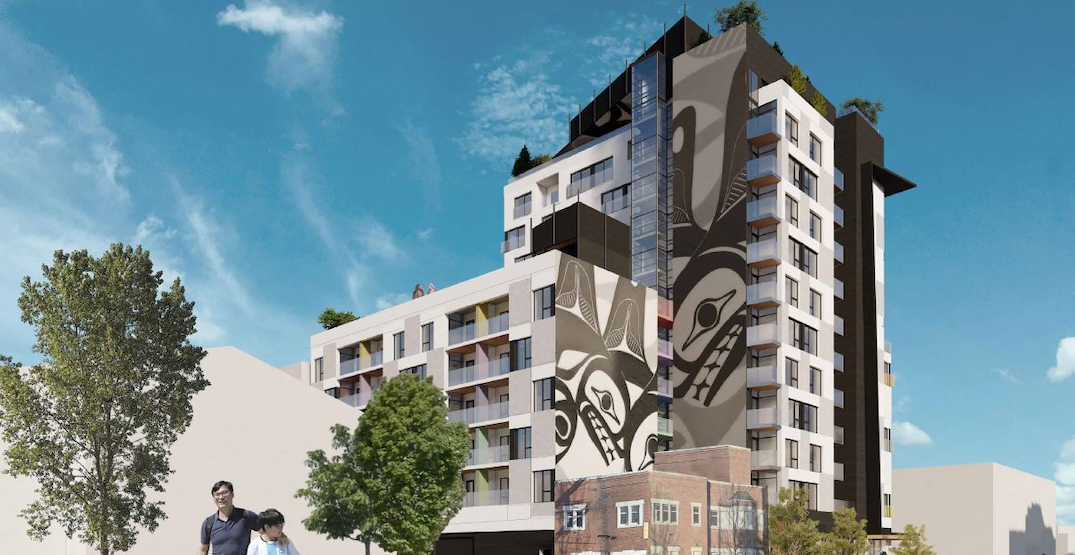 14-storey social housing tower planned for Hastings Street in Downtown Eastside