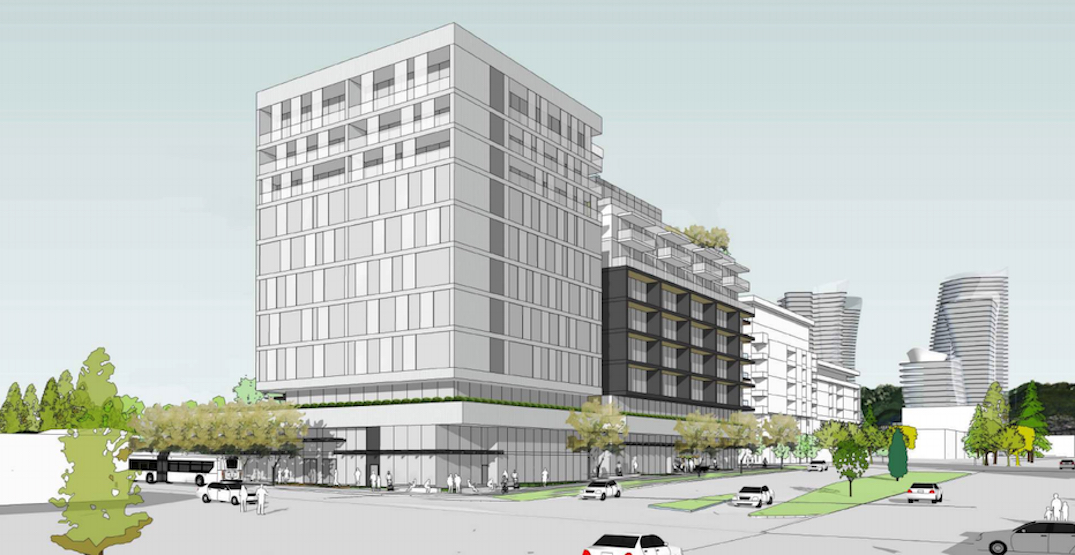 Office space replaces condos in revised proposal next to Langara-49th Avenue Station