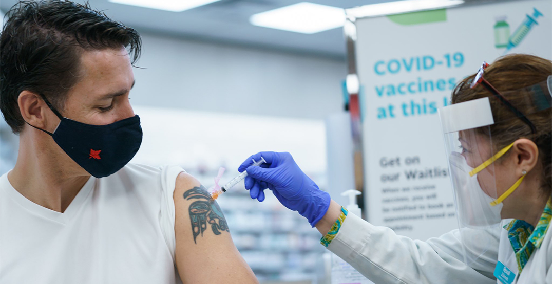 Justin Trudeau gets second dose of COVID-19 vaccine