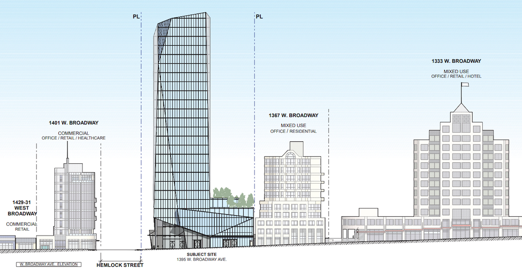 1395 west broadway vancouver office tower