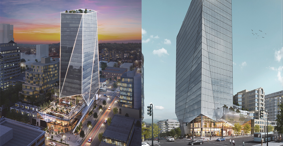 24-storey office tower proposed for West Broadway next to future SkyTrain station