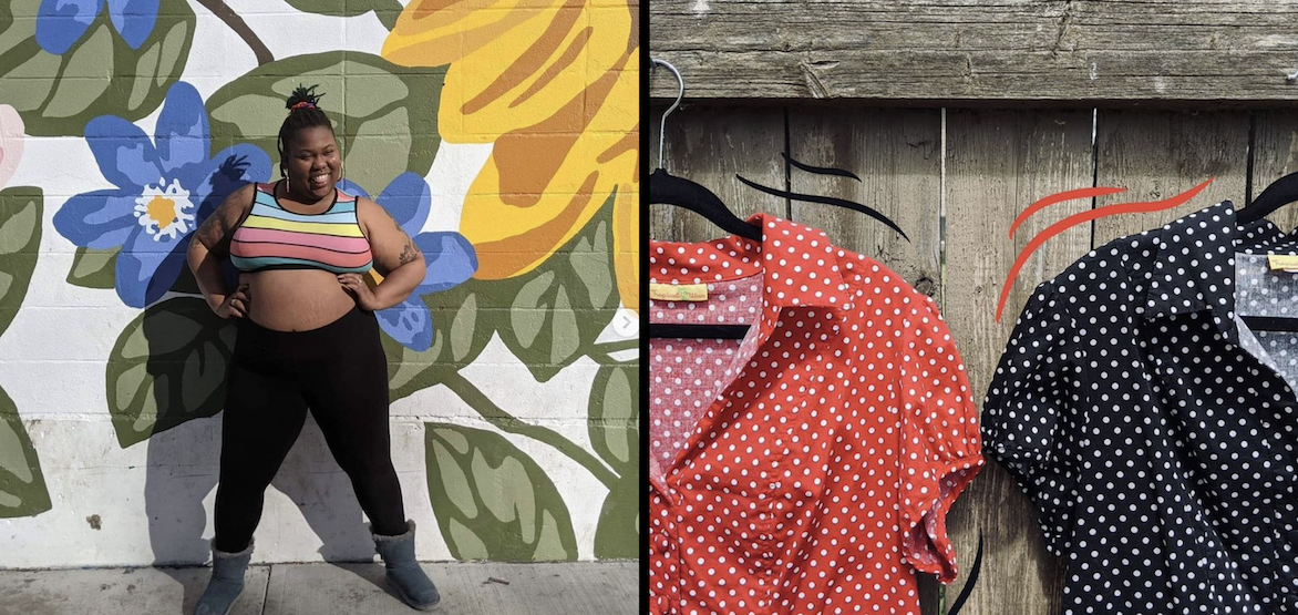 This Canadian thrift store offers affordable plus-sizes online