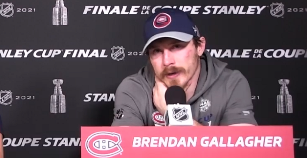 Gallagher fights back tears after Canadiens Stanley Cup loss