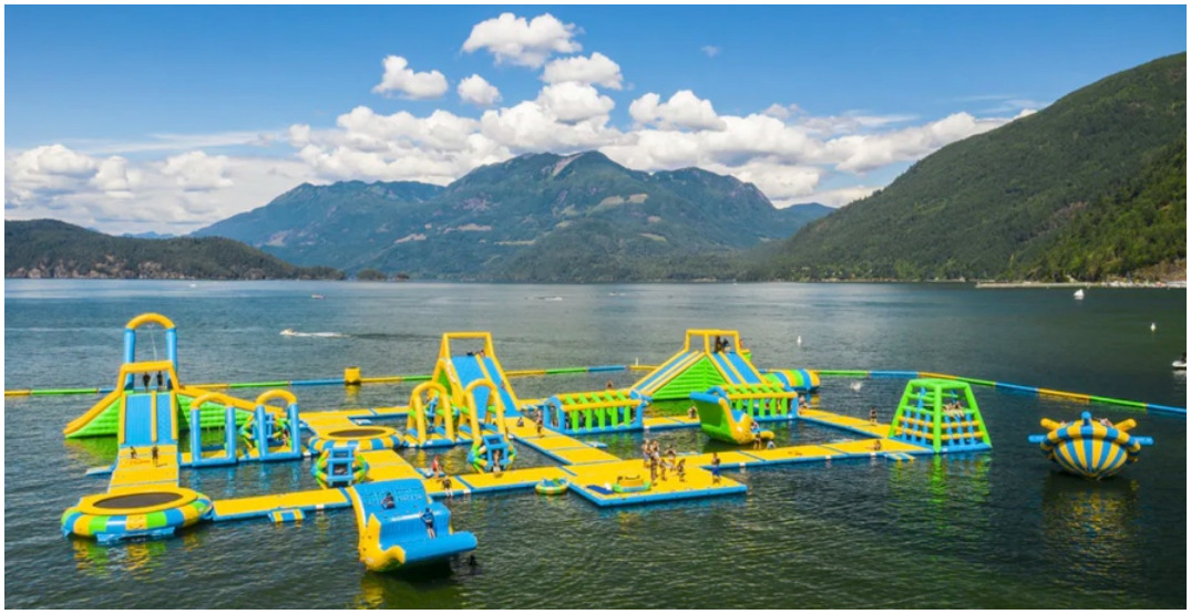 """""""Canada's largest floating waterpark"""" is now open in Harrison, BC"""