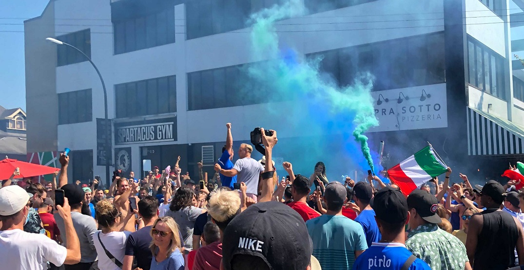 Commercial Drive street party breaks out after Italy wins Euro 2020