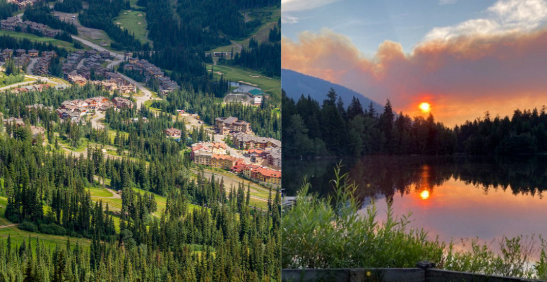 Wildfire forces evacuation alert for BC mountain resort community