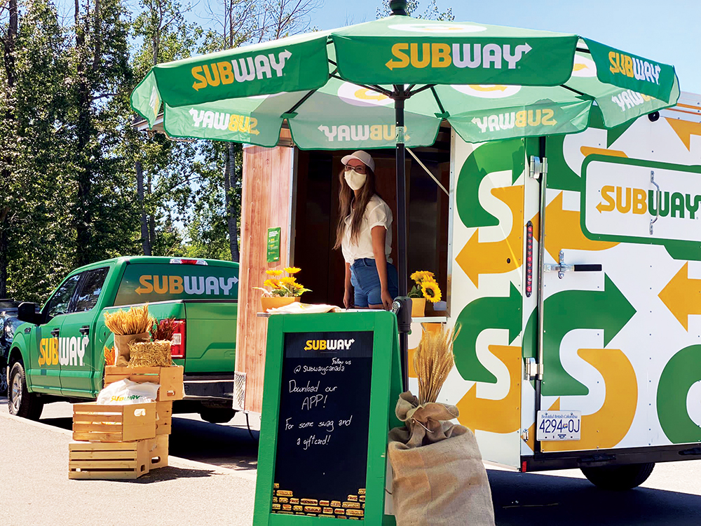Subway pop-ups giving away gift cards this summer