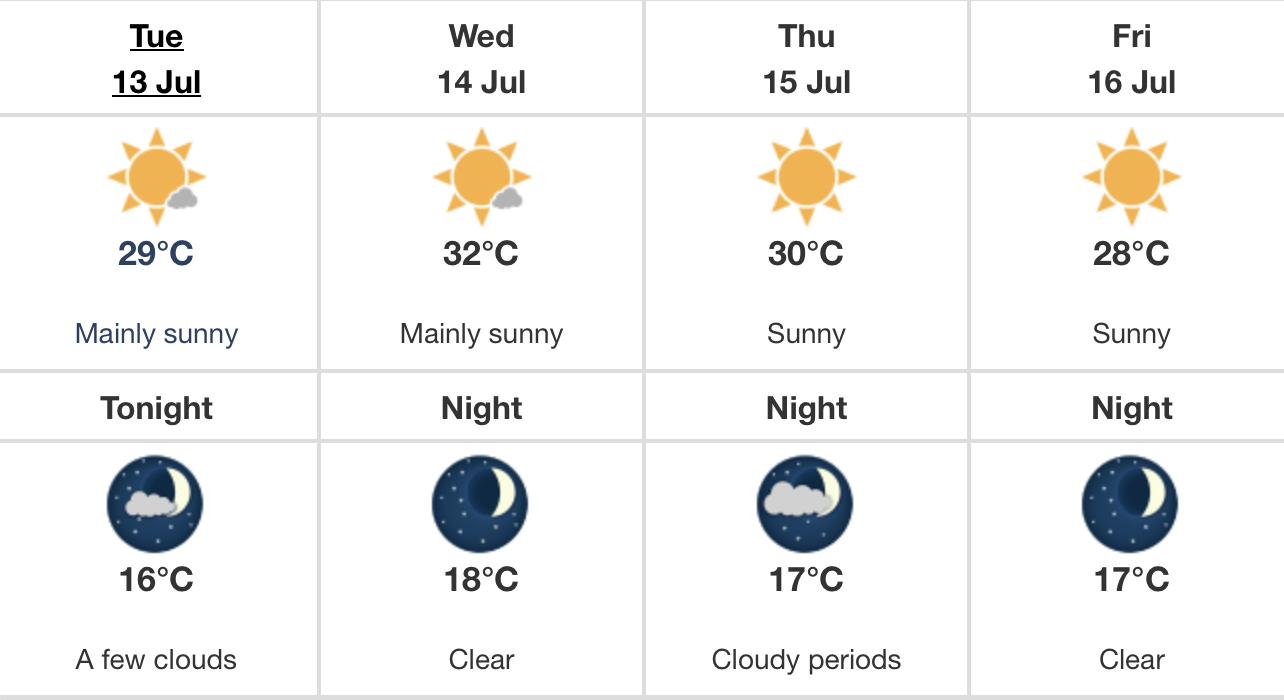 heat warning Edmonton