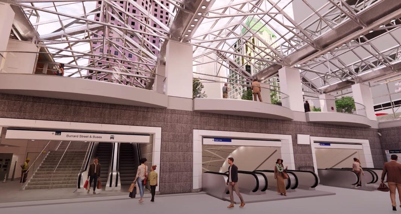 skytrain burrard station upgrade