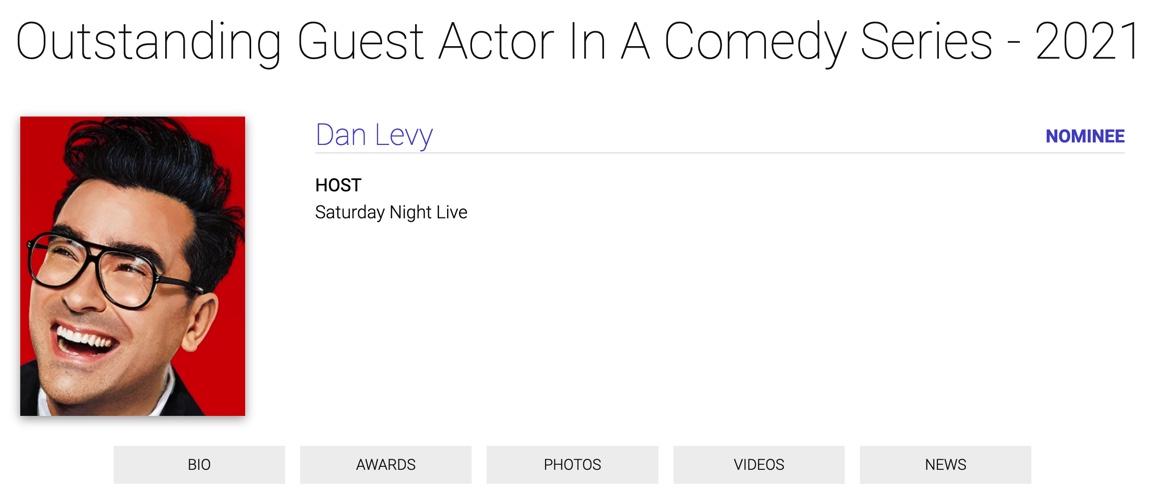 Dan Levy Emmy