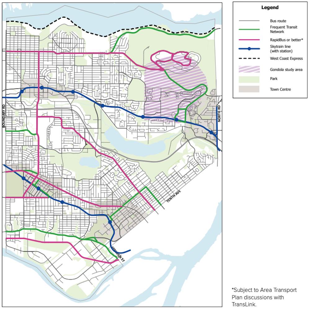 burnaby transit routes transportation plan