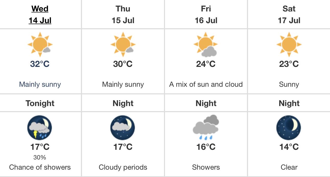 Edmonton heat warning