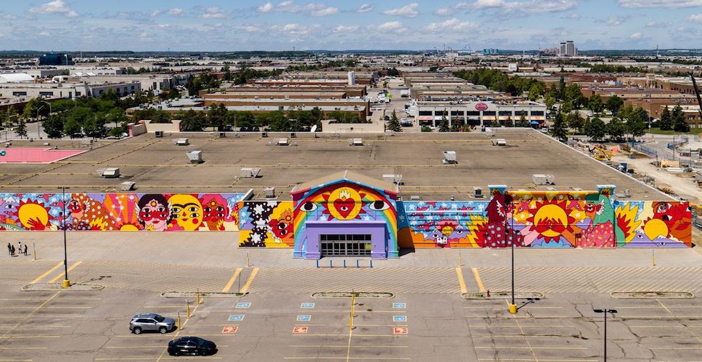 Free drive-in movies, food trucks, huge murals now at former GTA Walmart