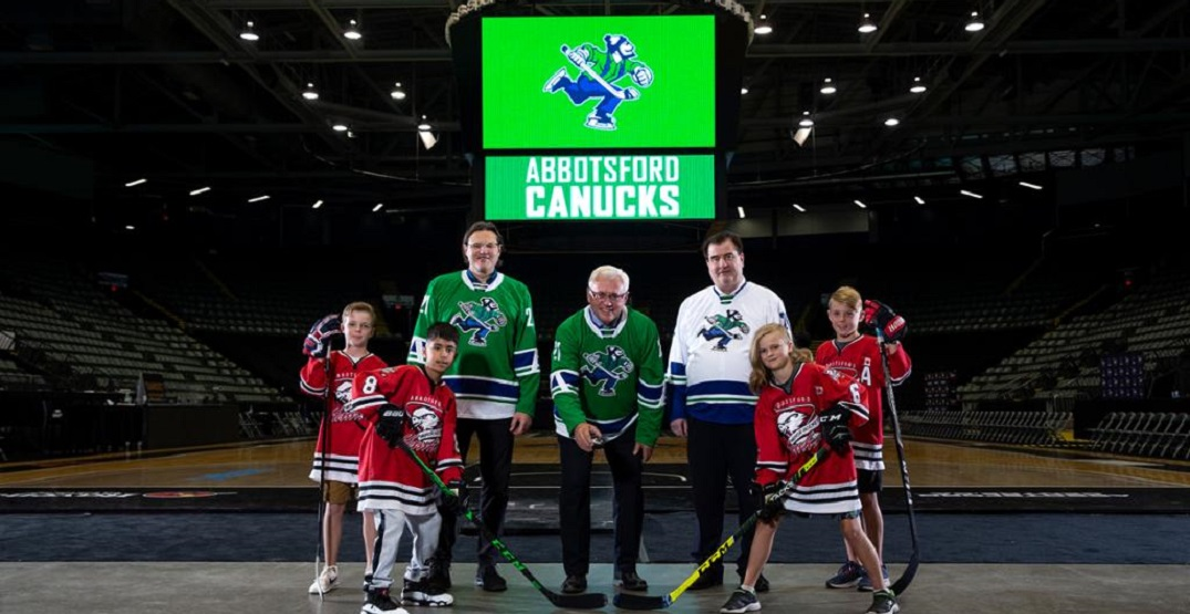 Canucks' new Abbotsford AHL team will use the Johnny Canuck logo