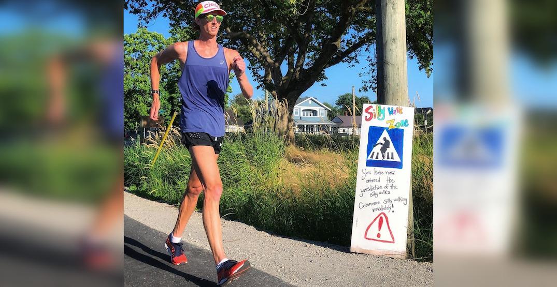 Olympian Evan Dunfee hearing car horns, cheers racewalking through Richmond