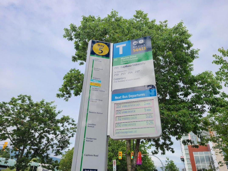 translink rapidbus sign